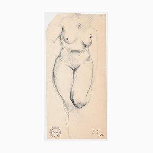 Frauenakt - Original Kohlezeichnung von Paul Garin - 1932 1932