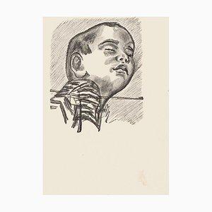 Child - Original Zincography by Mino Maccari - 1970s 1970s