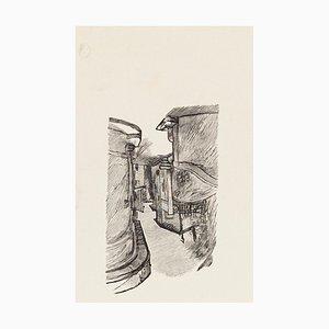 The Road - Original Zinkographie von Mino Maccari - 1970s 1970s