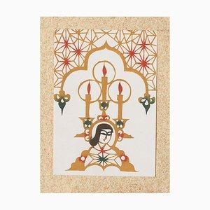 Best Wishes from Fujikawa Galleries - Original Holzschnitt Spätes 20. Jahrhundert Spätes 20. Jahrhundert