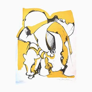 Composition - Original Lithograph - 1970s 1970s