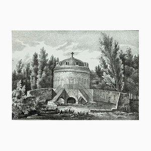 Mausoleum von Theodore in Ravenna - Original Lithographie - 19. Jahrhundert 19. Jahrhundert