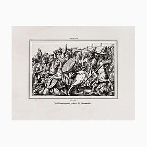 Battle from the Arch of Constantine - Original Lithograph - 19th Century 19th Century