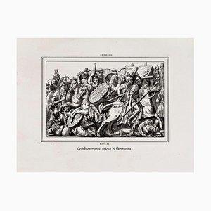 Schlacht um den Konstantinsbogen - Original Lithographie - 19. Jahrhundert 19. Jh