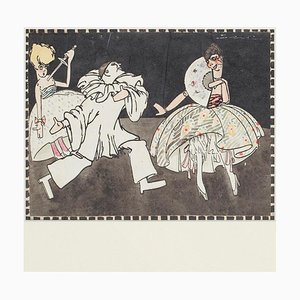 Marionette - Ink and Watercolor Drawing - 1930s 1930s