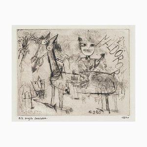 Homage to Paul Klee - Original Etching by Sergio Barletta - 1960 1960