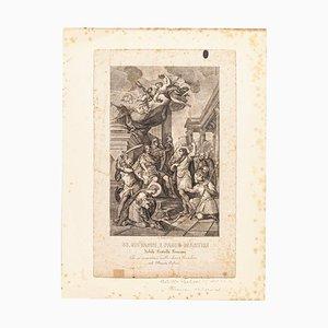 Saints John and Paul - Original Etching by Achille Parboni - 1820 1820