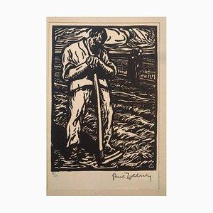 The Farmer - Original Holzschnitt von Paul Welsch - 1940 1940