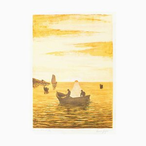 Sunset - Original Lithographievon Italian Master 1970ers Late 20th Century