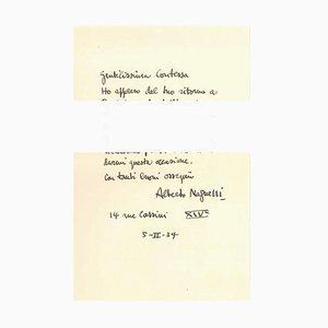 Buchstabe der Grüße - Ursprünglicher Buchstabe von A. Magnelli - 1934 1934
