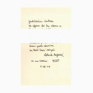 Letter of Greetings - Original Letter by A. Magnelli - 1934 1934