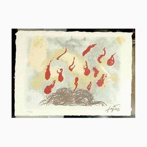 Cabellos y llamas - Original Lithograph After Antoni Tapies - 1987 1987