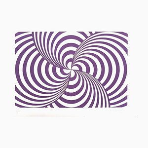 Purple Composition - Original Screen Prints by V. Debach - 1970s 1970s