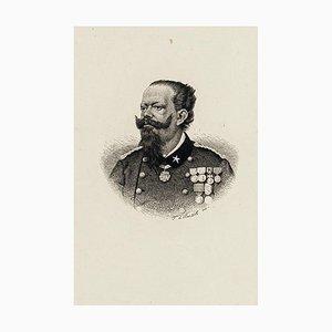 Portrait of Vittorio Emanuele II - Original Etching Late 19th Century Late 19th Century