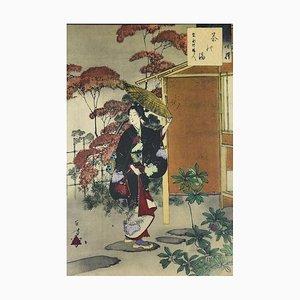Teezeremonie - Vintage Offset Druck Nach Mizuno Toshikata 1959