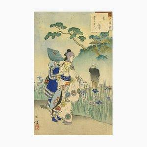 Iris Garden - Offset Print After Mizuno Toshikata 1959