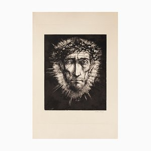 Pensive Man - Original Etching by Michel Ciry - 1964 1964