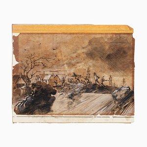 Landscape - Original Mid Media - Mid 20th Century Mid 20th Century