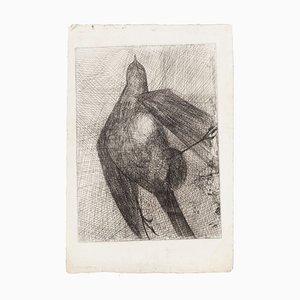Bird - Original Etching - Mid 20th Century Mid 20th Century
