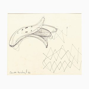 Banana - Original Pen Drawing on Paper - 1962 1962