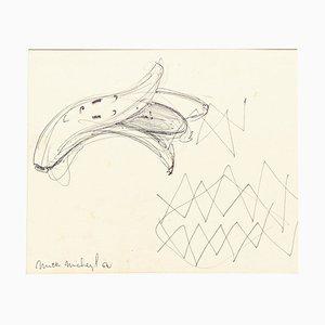 Banana - Papier à Dessin sur Papier - 1962 1962