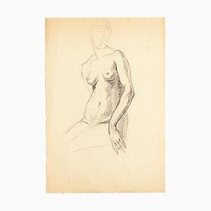 Nude - Original Pencil Drawing - Mid 20th Century Mid 20th Century
