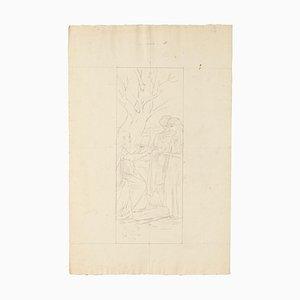 Marriage - Original Pencil Drawing - Mid 20th Century Mid 20th Century