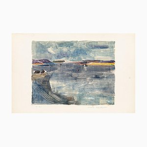 The Sea - Original Lithograph by Denise Bonvallet Philippon 1960s