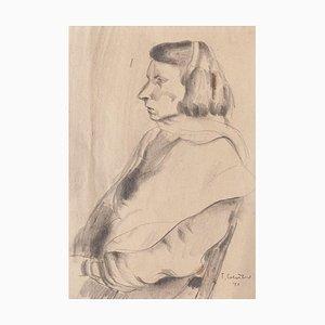 Portrait - Original Pencil Drawing by T. Gertner - 1941 1941