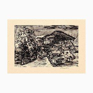 Landscape - Original Woodcut by Mino Maccari - 1925 1925