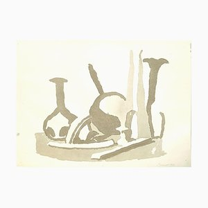 Still Life Composition - Vintage Offset Print after Giorgio Morandi - 1973 1973