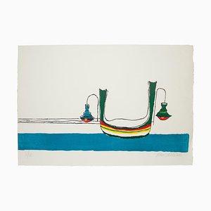 Gondola - Original Lithograph by Maurilio Catalano - 1970s 1970s