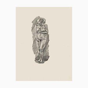 Nude - Original Zincography by Mino Maccari - 1970s 1970s