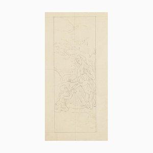 Figuren - Original Bleistiftzeichnung - 20. Jahrhundert 20. Jahrhundert