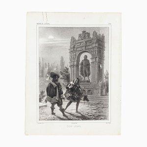 Don Juan - Original Lithograph - Mid 19th Century Mid 19th Century