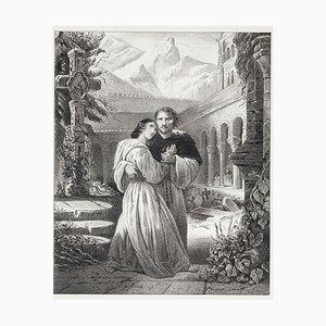 Le Favorite by Gaetano Donizetti - Original Lithograph - Mid 19th Century Mid 19th Century