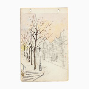 Trees - Watercolor by French Master - Mid 20th Century Mid 20th Century