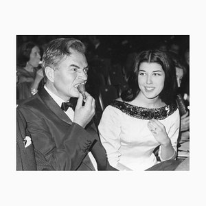 James Mason and Patrizia De Blanck - Original Vintage Photograph - 1960s 20th century