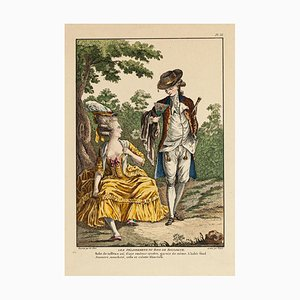 Meeting - Original Druck auf Papier - spätes 18. Jahrhundert spätes 18. Jahrhundert
