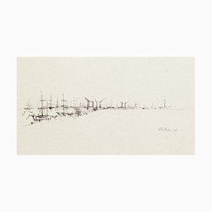 Port - Original Drawing in Pen von Vito Alghisi - 1997 1997
