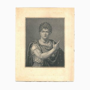 Julius Cesar - Original Etching on Cardboard - 18th Century 18th Century