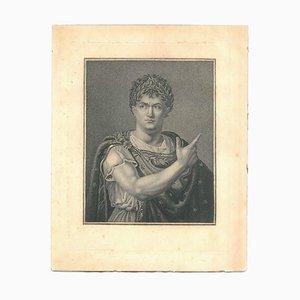 Julius Cesar - Original Radierung auf Karton - 18. Jahrhundert