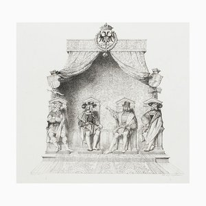 Assembly - Original Lithography on Paper by G. Engelmann - 1825 1825