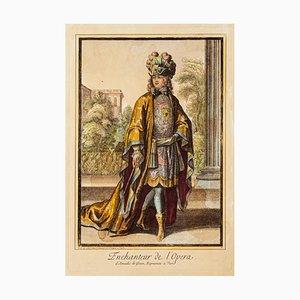 Theatrical Costume - Original Lithograph on Paper - Late XIX century XIX century