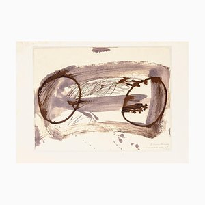 Two Circle - Vintage Offset after Antoni Tàpies - 1982 1982
