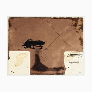 Two White Rectangles - Vintage Offset Print after Antoni Tàpies - 1982 1982
