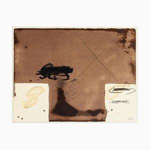 Zwei weiße Rechtecke - Vintage Offsetdruck nach Antoni Tàpies - 1982 1982