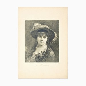 Portrait - Original Zincography by S. Kellenback - 1880 ca. 1880 ca.