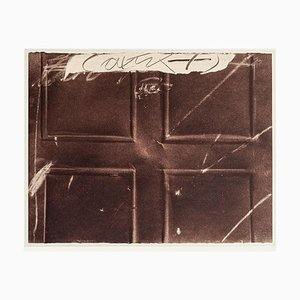 Embossed Cross - Vintage Offset Print after Antoni Tàpies - 1982 1982