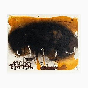 Schwarzer Fächer - Offsetdruck von Antoni Tàpies - 1982 1982